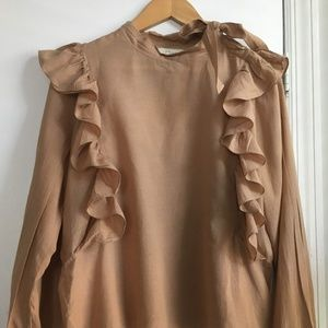 Doen cotton blouse with ruffles